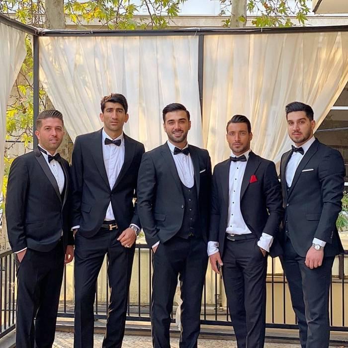پرسپولیسیها در مراسم عروسی سیامک نعمتی