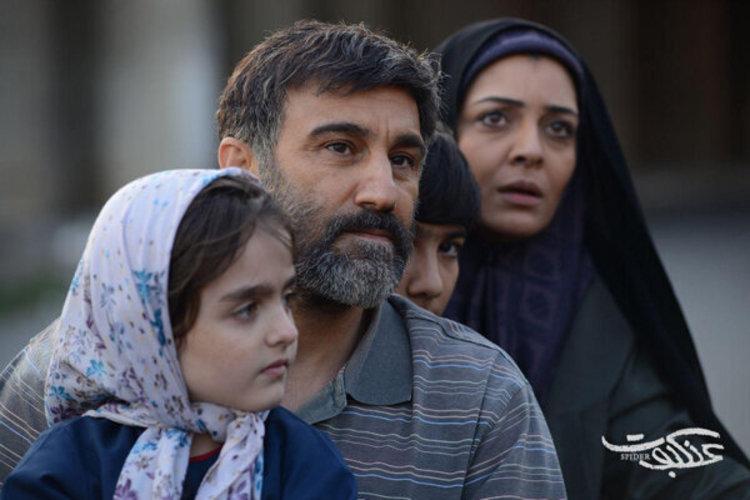 (عکس) محسن تنابنده و ساره بیات در نمایی از فیلم عنکبوت