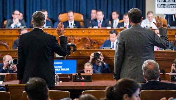 (تصاویر) اولین جلسه علنی تحقیقات استیضاح ترامپ