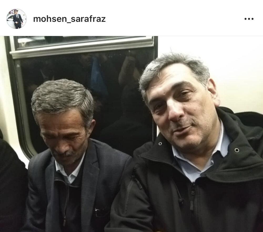 (تصویر) شهردار تهران دیشب چگونه به خانه برگشت؟