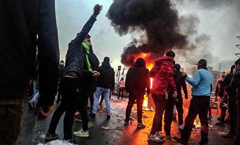 (تصاویر) تخریب و خسارت به اموال عمومی در جریان اعتراضات