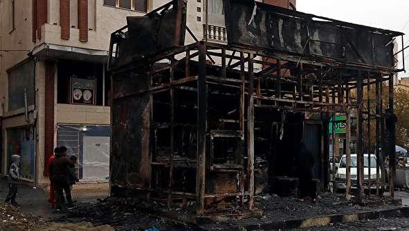 (تصاویر) خسارات وارده در شهریار و البرز درپی گرانی بنزین