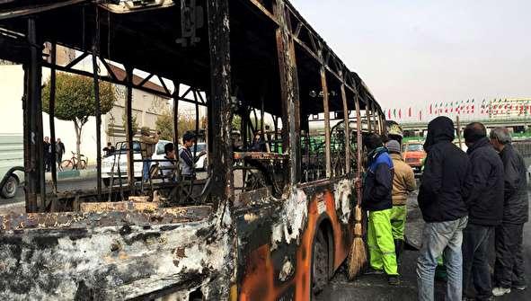 (تصاویر) خسارات وارد شده به اموال عمومی در اصفهان