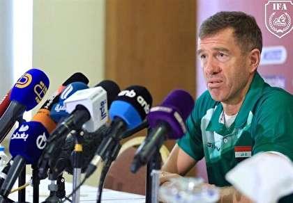 سرمربی عراق: از اول هم رقیب ما بحرین بود نه ایران