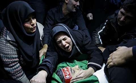 (تصاویر) وداع با پیکر دو شهید مدافع امنیت