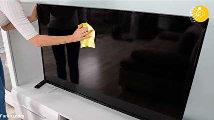 بهترین روش ها برای تميز كردن صفحه نمایش تلویزیون و لپ تاپ