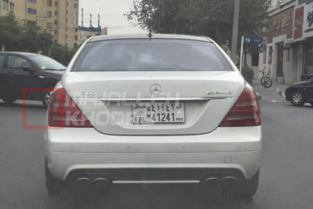 (عکس) بنز کلاس «اس» در ایران با پلاک افغانستان!