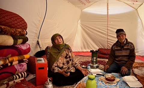 (تصاویر) وضعیت تلخ مناطق زلزله زده شهرستان میانه