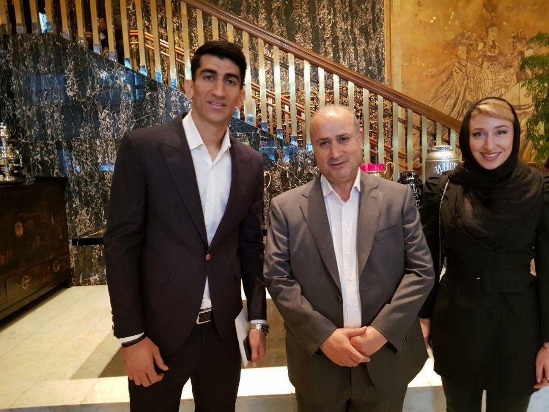 بیرانوند و کتایون خسرویار در مراسم برترینهای فوتبال آسیا/عکس