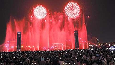 (تصاویر) تماشای آتش بازی روز ملی امارات