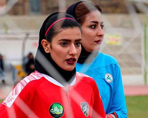 (تصاویر) دیدار تیمهای فوتبال بانوان آذرخش و ذوب آهن