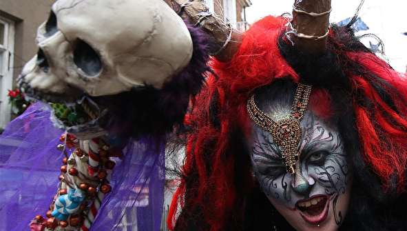 (تصاویر) رژه شخصیتهای شیطانی کرامپوس
