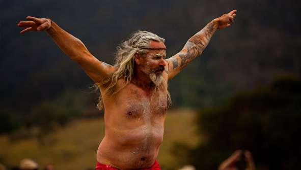 (تصاویر) رقص سالانه بومیان استرالیا