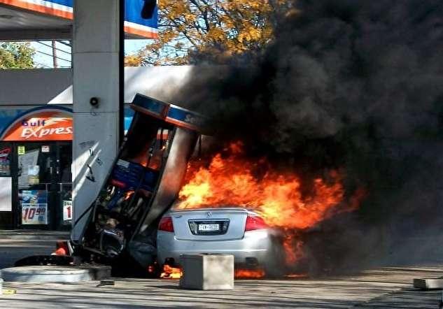 (ویدیو) عاقبت بنزین زدن با خودرو روشن!