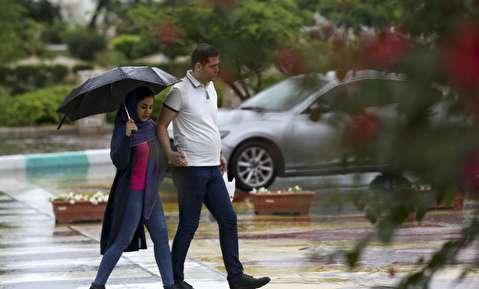(تصاویر) باران پاییزی در کیش