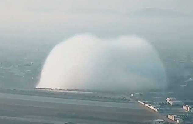 (ویدئو) موج عجیب یک انفجار بزرگ در سوریه