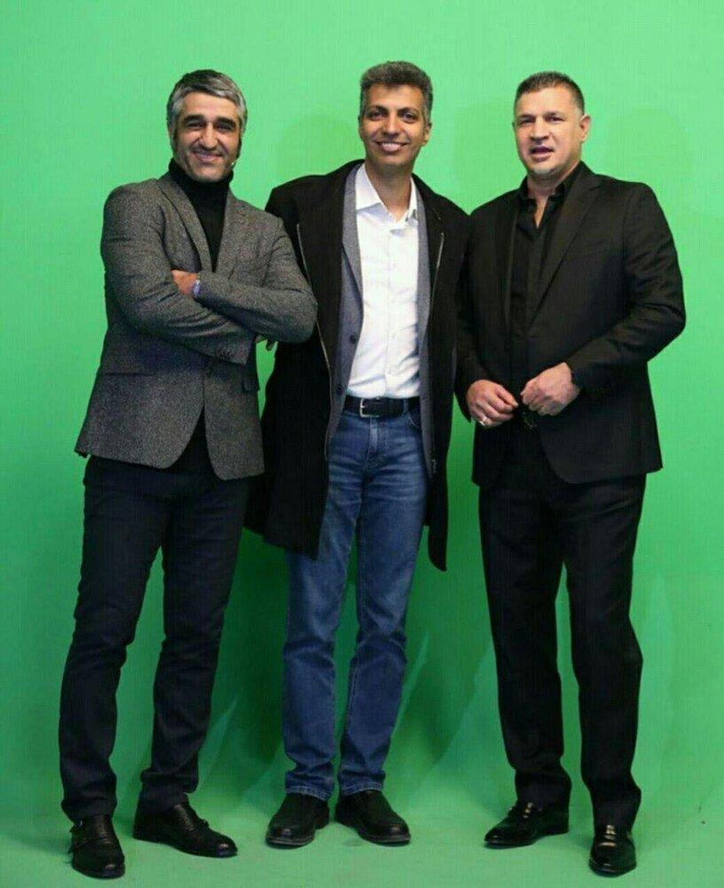 (عکس) پشت صحنه برنامه جدید فردوسیپور با حضور علی دایی و پژمان جمشیدی