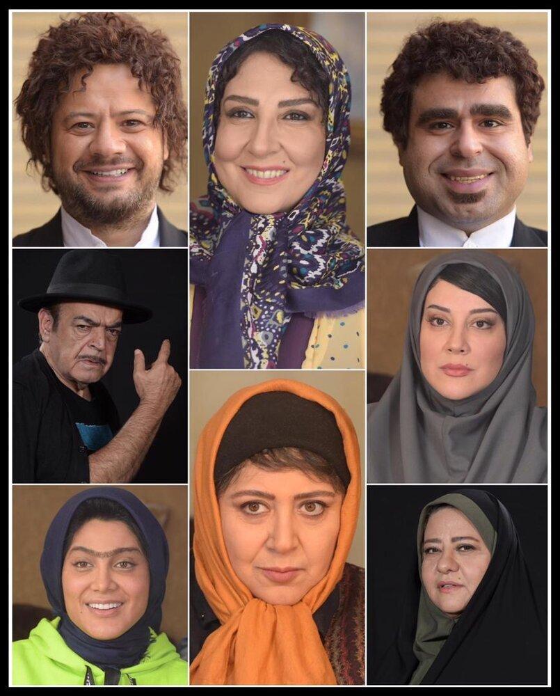 (تصویر) تست گریم مرجانه گلچین و علی صادقی