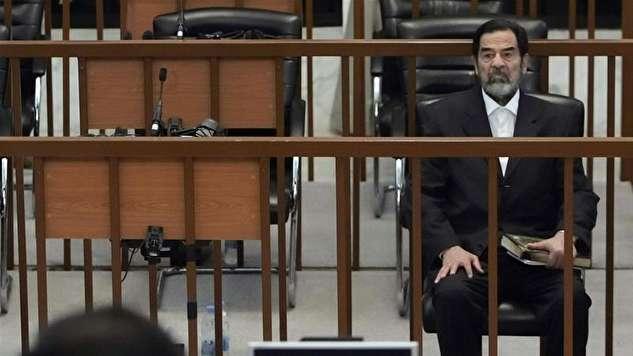 فیلمی دیده نشده از جسد صدام حسین پس از اعدام