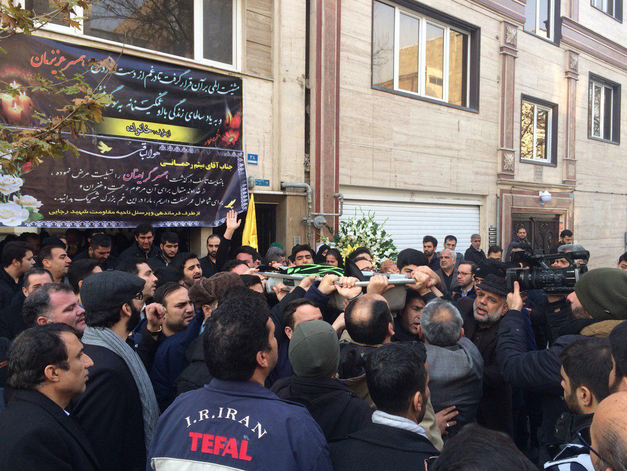 (عکس) پیکر زهرا عبدالمحمدی خبرنگار خبرگزاری فارس تشییع شد