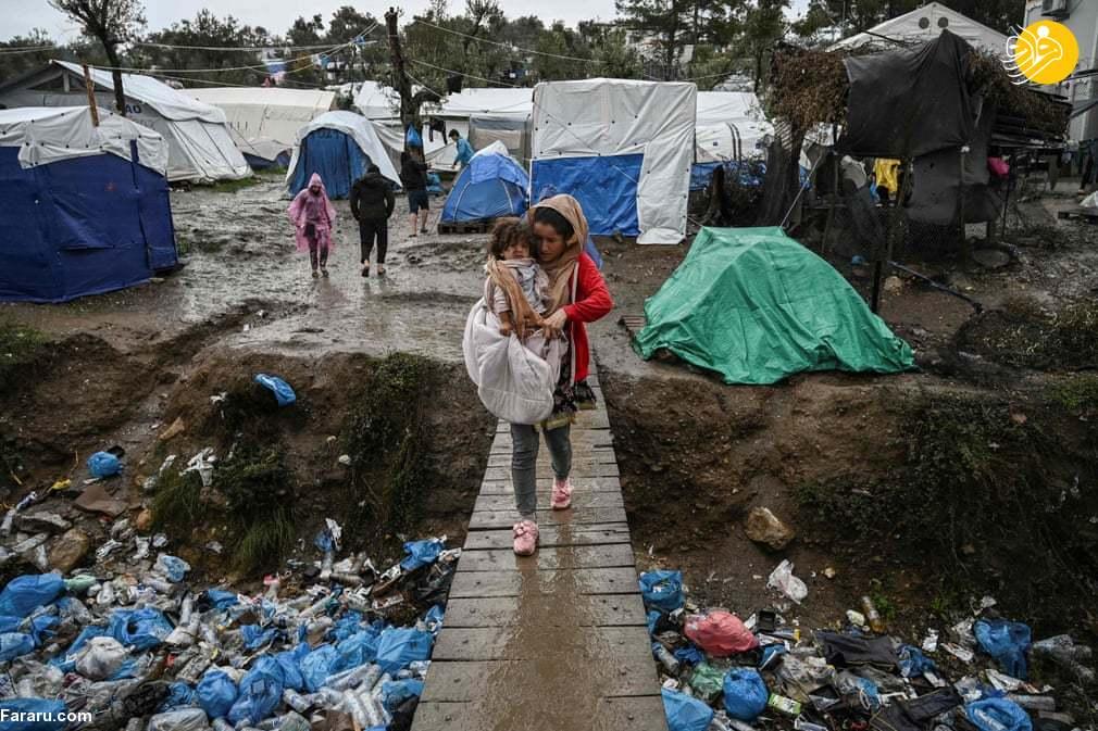 (تصاویر) اردوگاه موریا؛ جهنم پناهجویان