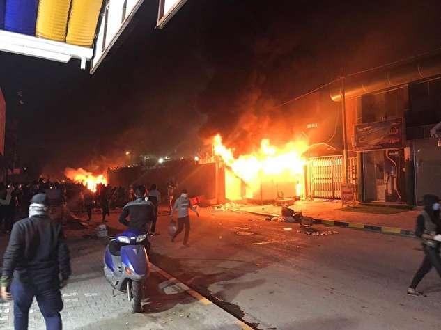 (ویدئو) داخل کنسولگری ایران در نجف پس از به آتش کشیده شدن