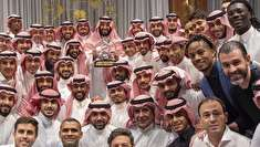 (تصاویر) استقبال محمد بن سلمان از تیم فوتبال الهلال