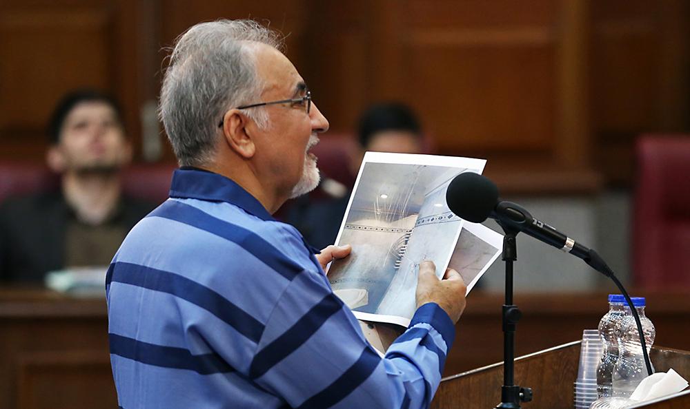 (تصاویر) نجفی در دومین دادگاه رسیدگی مجدد به قتل میترا استاد