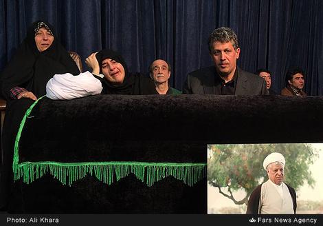 تصاویر:مراسم وداع با پیکر آیت الله هاشمی در حسینیه جماران