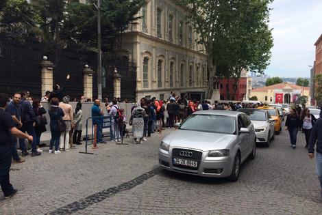 صف رای دهندگان در استانبول