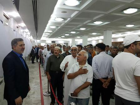 صف رای گیری در سفارت ایران در کوبت
