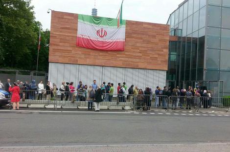 صف رای گیری در فرانکفورت