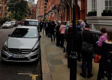 صف رای گیری در لندن