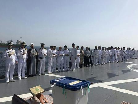 مشارکت نیروی دریایی ایران در آب های عمان در انتخابات ریاست جمهوری