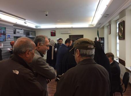 صف رای گیری در هامبورگ آلمان