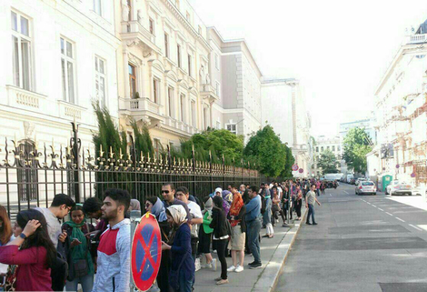 صف رای گیری در وین اتریش