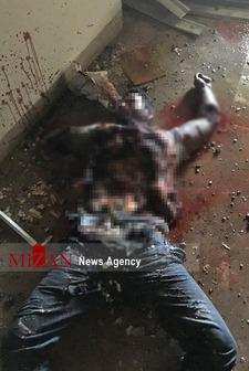 تصاویر/ اجساد مهاجمان به هلاکترسیده در مجلس