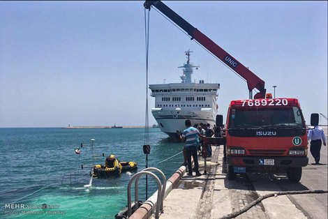 غرق شدن کشتی مسافربری در کیش