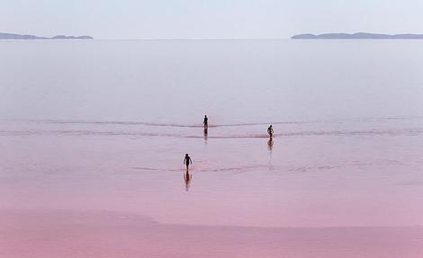 دریاچه ارومیه قرمز شد
