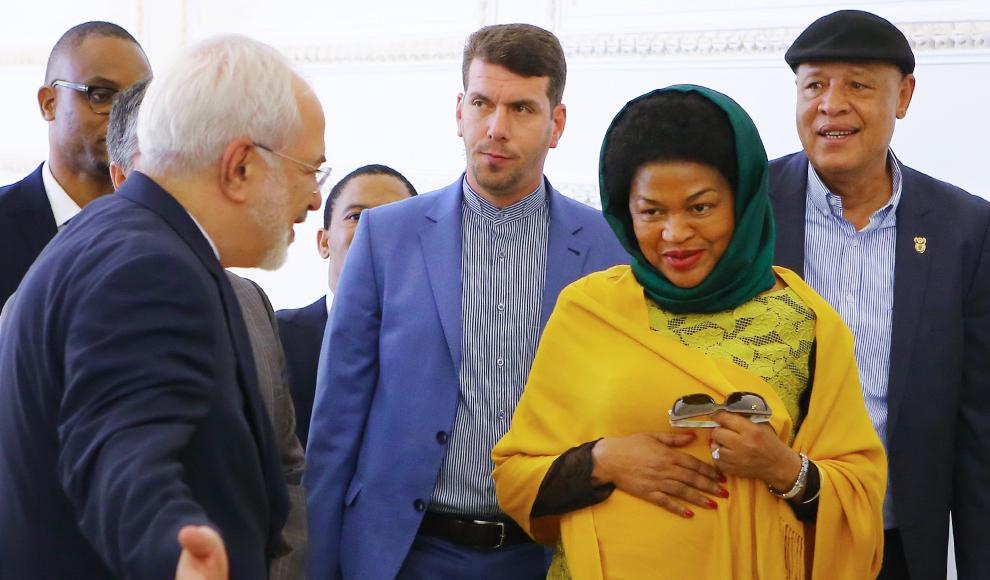 دیدار رئیس مجلس آفریقای جنوبی با ظریف. (ایرنا/ عبدالله حیدری)