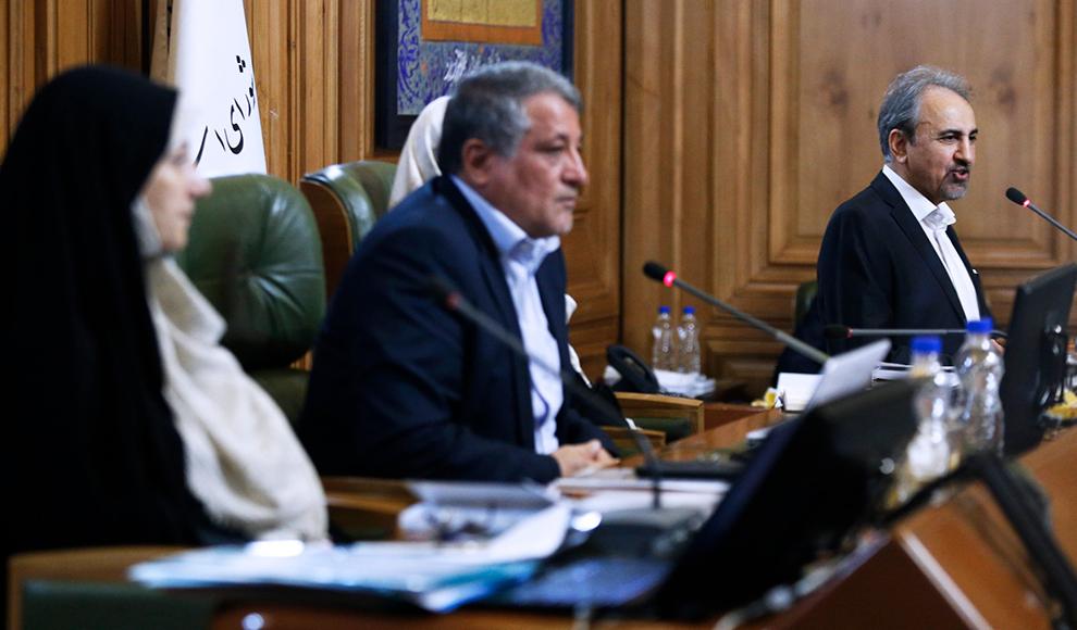 ادای سوگند شهردار تهران در جلسه امروز شورای شهر. (میزان/ علی شیربند)