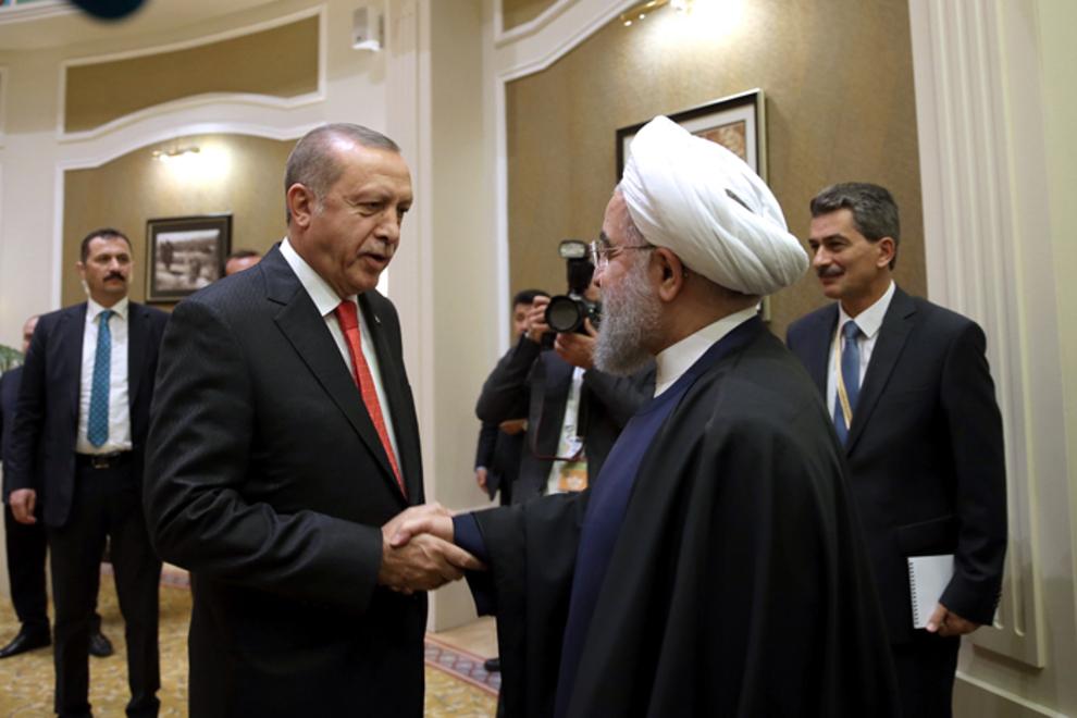(تصاویر) دیدار روحانی و اردوغان در قزاقستان,