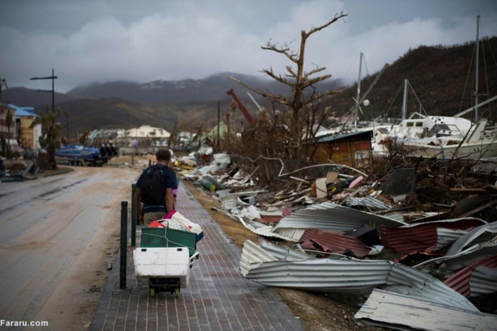 پس از توفان ایرما در جزیره سنت مارتین