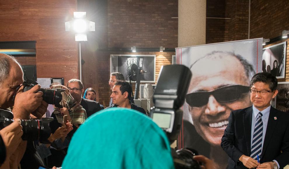 بزرگداشت عباس کیارستمی با حضور برخی از سفرای کشورهای خارجی. (ایسنا/ پیمان یزدانی)