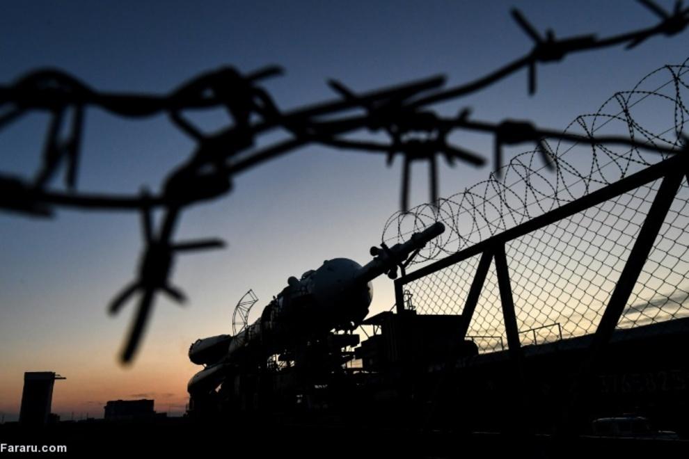 موشک سایوز در بایکونور قزاقستان