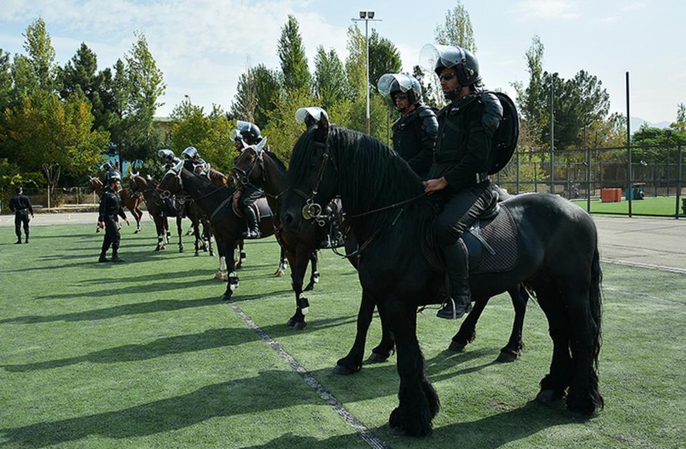 پلیس اسب سوار در تهران