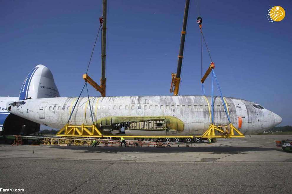 ورود هواپیمای بوئینگ ۷۳۷ لوفتهانزا به فرودگاه فریدریش هافن ایالت بادن - وورتمبرگ