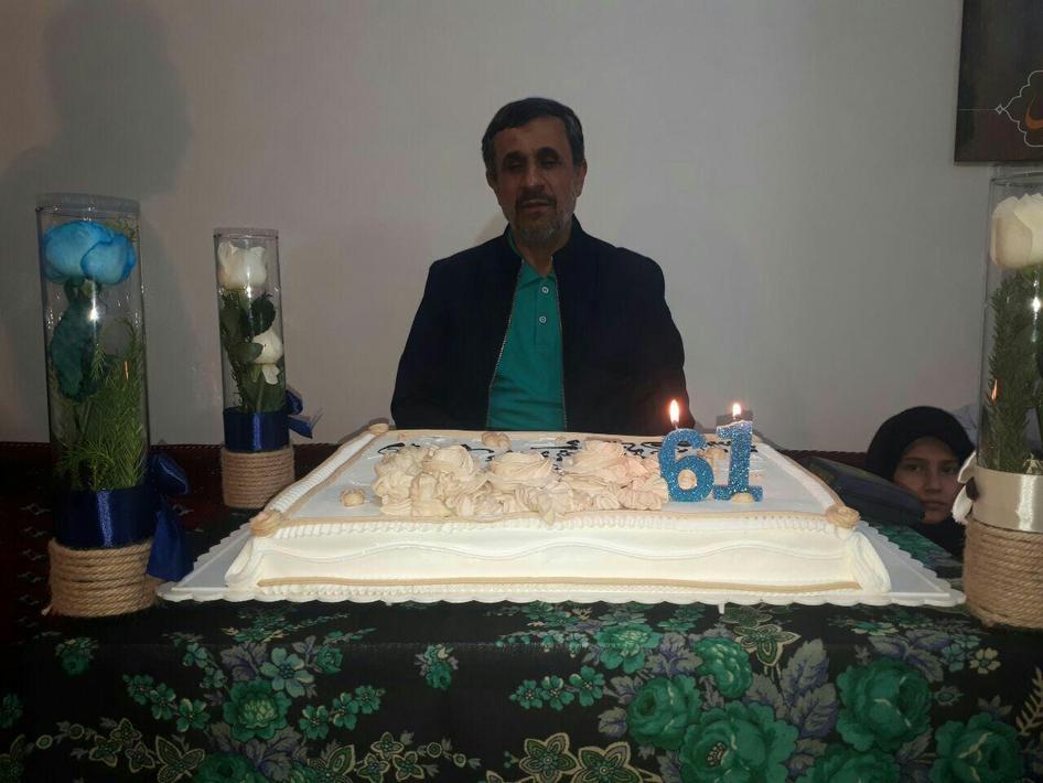 تصاویر جشن تولد احمدی نژاد