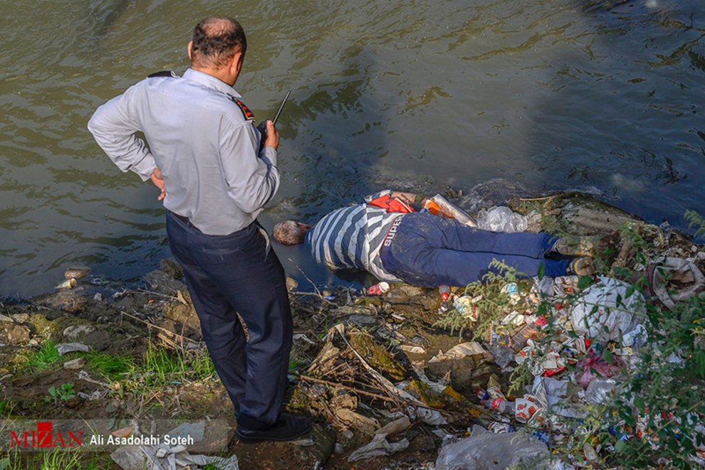 کشف-جسد-در-رودخانه-کیاسر-رشت-تصاویر