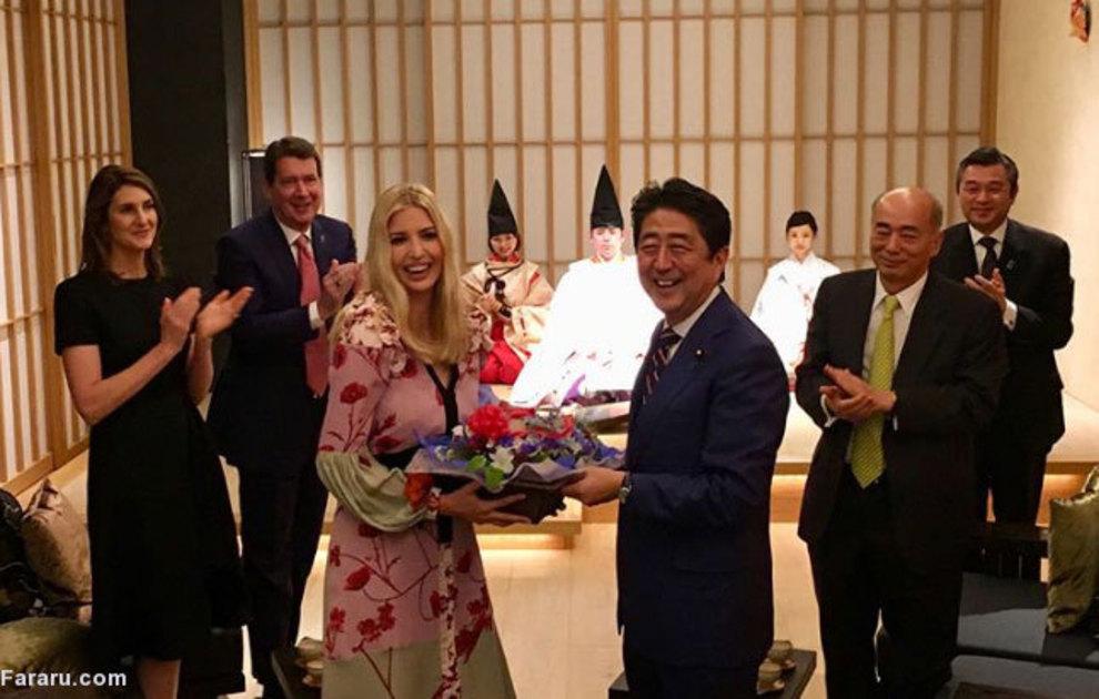 جشن تولد نخست وزیر ژاپن برای دختر ترامپ